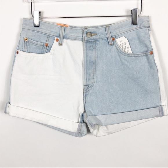 Levis high waisted cuffed denim shorts, Herren Jacken Levi's